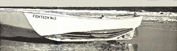 Prima imbarcazione a V profondo disegnata da Sonny Levi nel 1958 per la FAO