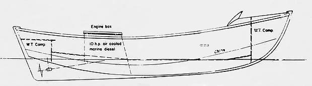 La prima imbarcazione con carena a v profondo di Sonny Levi 1958