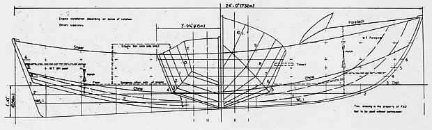 Le carene l 39 opera morta delle barche carene a v profonda for Come disegnare piani di costruzione