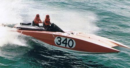 Arcidiavolo II alla Gara motonautica Viareggio Bastia Viareggio del 1975