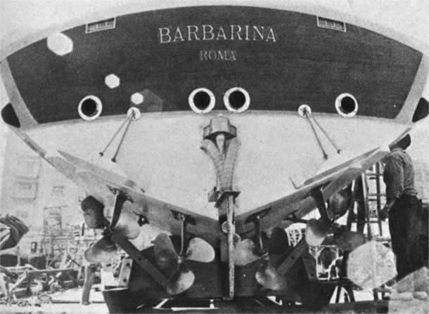 Barbarina dei cantieri Delta - Barca d'epoca progetto di Sonny Renato Levi