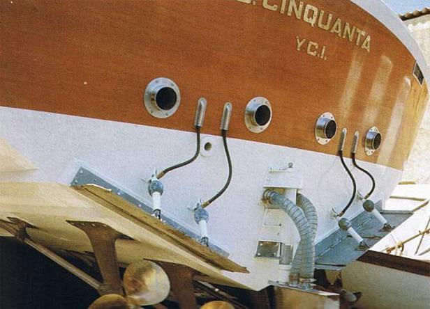 Poppa della barca d'epoca G. Cinquanta