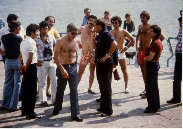 Sonny Levi (a torso nudo) e Giorgio Tognelli