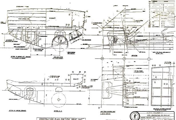Disegni del V.A.C. II barche veloci di Sonny Levi