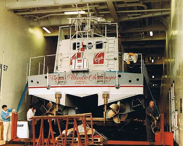 Virgin Atlantic Challenger II all'arrivo in Inghilterra