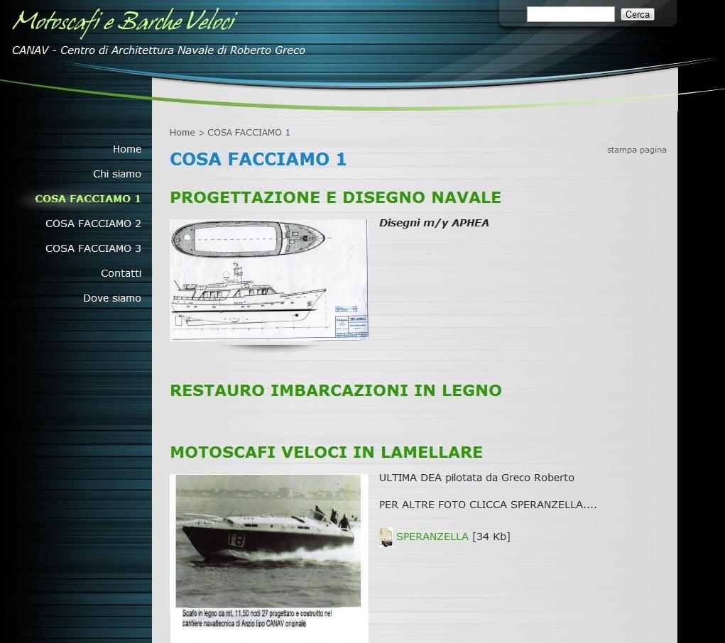 barche veloci Canav di Roberto Greco