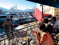 Il balcone dell'Hotel Sube