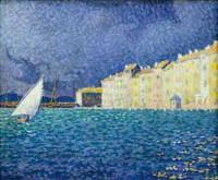 Paul Signac 1895 Saint Tropez l'orage.