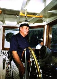 John Wayne al timone nelle acque del Pacifico 1973