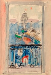 Charles Camoin La fenetre ouverte sur le port Saint Tropez
