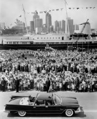 Luglio 1959, il Britannia accompagna la famiglia reale in visita in USA e Canada