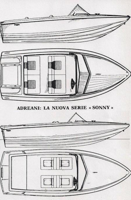 La ditta Vega di Giorgio Andreani & C di Vimodrone presentò a settembre del 1971 a Milano Marittima le nuove imbarcazioni della serie Sonny. Si tratta di tre scafi progettati da Levi con ottime qualità di navigazione veloce e di tenuta in mare, rispettivamente da 15', 16' e 18'
