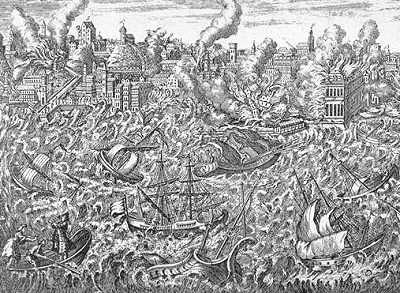 Maremoto Porto di Lisbona 1755