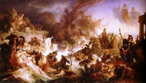Kaulbach Wilhelm von-Die Seeschlacht bei Salamis-1868