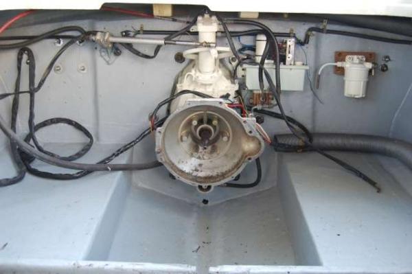 vano motore bonificato con stern drive revisionato