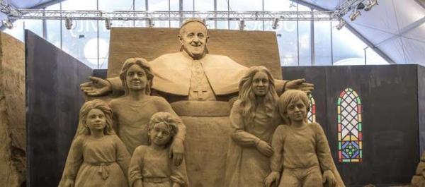 Sculture di Sabbia - Papa Francesco