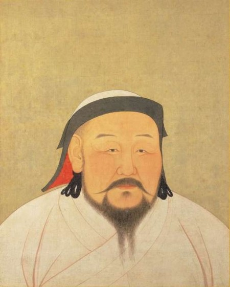 Yuan Emperor Album Khubilai Portrait