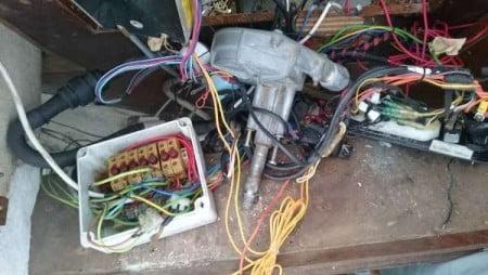 impianto elettrico-rimozione