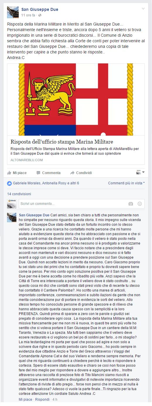 Risposta Cafà Marina Militare Italiana