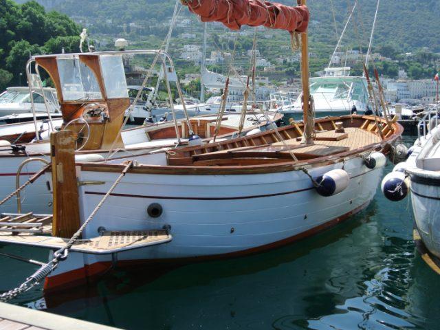 Gozzo classico Aprea – vela aurica & motore – in vendita a Capri