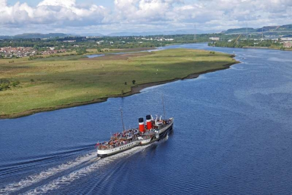 PS Waverley heading down the Clyde