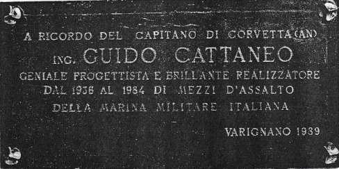 Targa in ricordo dell'ing Guido Cattaneo