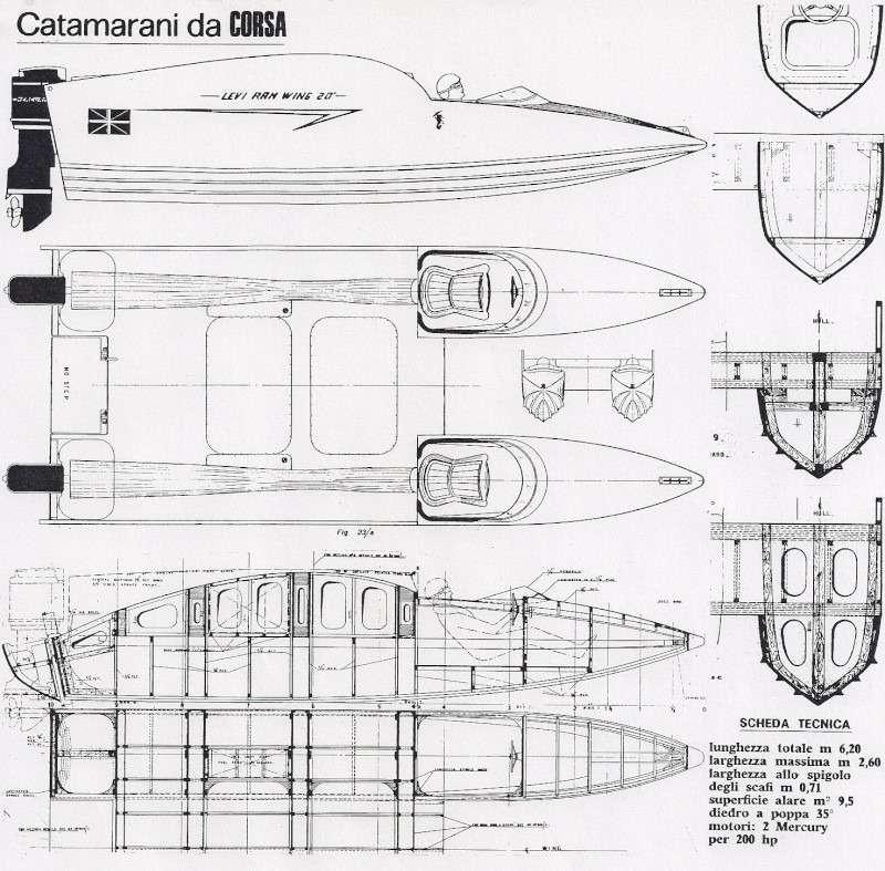 """Catamarani da CORSA dal libro """"Dhows"""" to Deltas"""" di Renato Sonny Levi"""