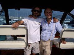 Luca Bassanini ed Enzo l'armatore del Rudy Sarafen III