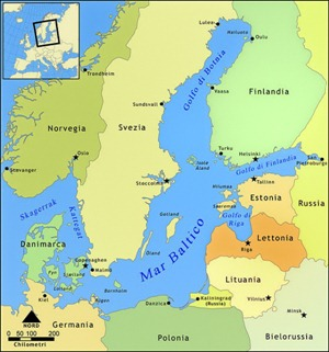 Mar Baltico mappa