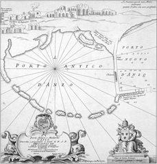 Pianta Coronelli porto Anzio 1700