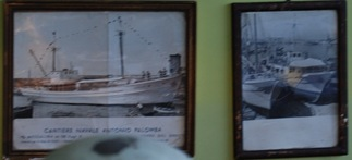 Immagini d'epoca di navi realizzate nel cantiere dell'allora Antonio Palomba