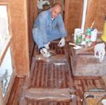 Fasi del restauro Fiuit
