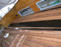 Particolari di restauro barca