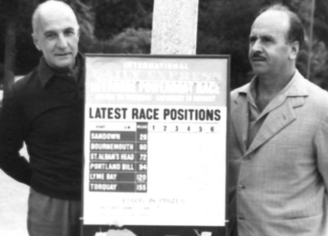 Pierino e il C.te Petrone Cowes-Torquay 1961