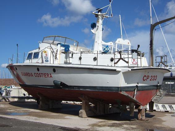 Motovedettca CP in restauro