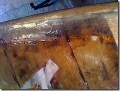 ponte di prua fazzoletti di biassiale in fiba di vetro ed epossidica