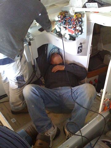 Branco elettricista impiantistica di bordo