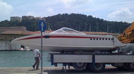 Il trasporto della barca