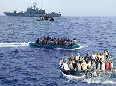 Arrivo-clandestini-mare-Lampedusa
