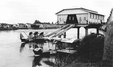 Immagine d'epoca aviorimessa della linea Torino-Pavia-Venezia