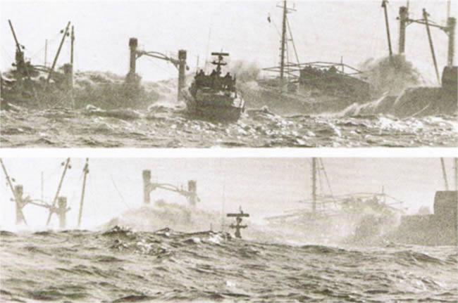Barche Storiche - Salvataggio a Genova con mare forza 8