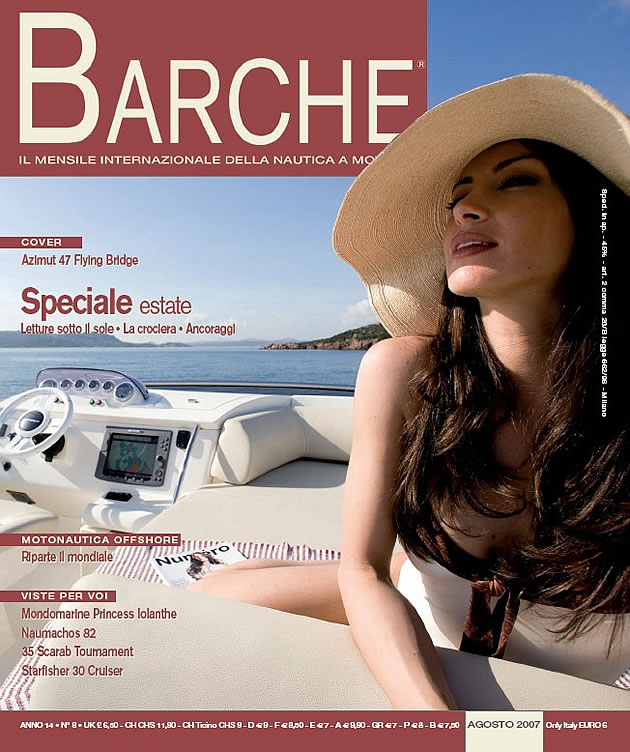 Copertina della rivista nautica Barche del mese di Agosto