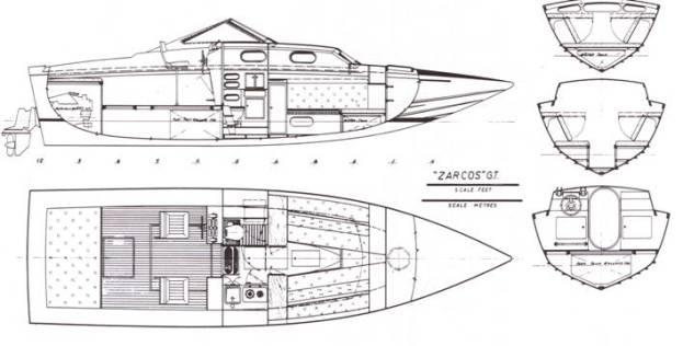Zarcos GT disegni varie viste e sezioni