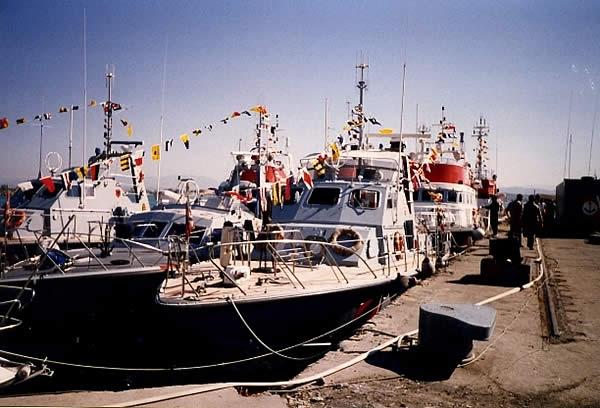 CP 243 all'ormeggio durante la Missione in Albania