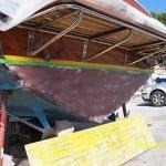 Il restauro di barche d'epoca Levi in lamellare di mogano