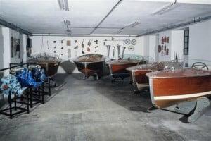 Sala Museo di Lario dei motoscafi entrobordo a cavallo della II guerra mondiale