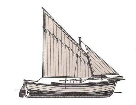 Gozzo puteolano vela latina