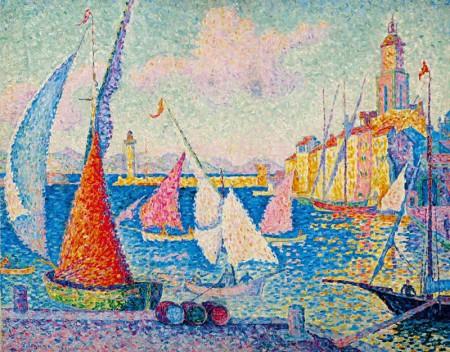 Paul Signac 1899, Saint Tropez le quai.