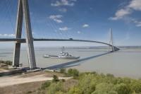 Photex au dessus de la seine,pont de normandie
