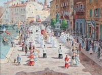 August Pegurier La procession Saint Tropez